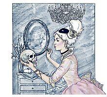 Marie Antoinette Halloween Blue Photographic Print