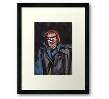 portrait of Linda Hunt Framed Print