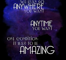 Doctor Who Quote - Anywhere and Anytime by Denise Giffin