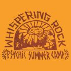 Whispering Rock Psychic Summer Camp Logo (Orange) by krisvincent