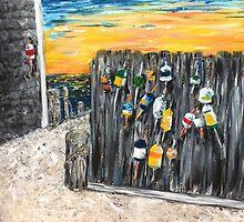 Buoys - Cape Cod by Kimberly  Daigle