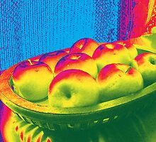 Apples Caught in a Rainbow by Shawna Rowe