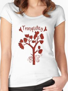Tranquility Women's Fitted Scoop T-Shirt