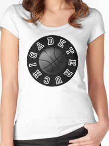 CGD BBALL BLACK Women's Fitted Scoop T-Shirt