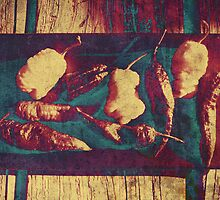 Vintage Ghost Chilies by MSRowe Art and Design
