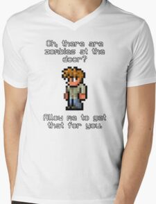Guide Likes Zombies Mens V-Neck T-Shirt