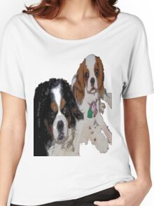 Cavalier King Charles dogs Women's Relaxed Fit T-Shirt