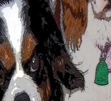 Cavalier King Charles dogs Sticker