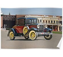1930 Ford Model A 'Rumble Seat' Coupe Poster