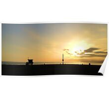 Sunset on Venice Beach Poster