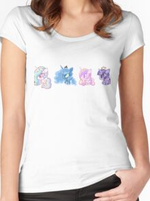 Weeny My Little Pony- Princesses Women's Fitted Scoop T-Shirt