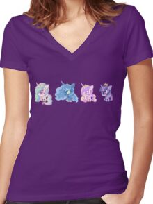 Weeny My Little Pony- Princesses Women's Fitted V-Neck T-Shirt