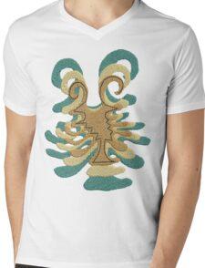 Abstract Design Mens V-Neck T-Shirt