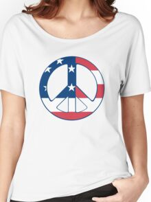 American Peace Symbol Women's Relaxed Fit T-Shirt