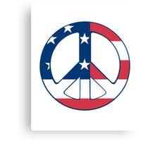 American Peace Symbol Canvas Print