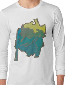 Colored abstract Design Long Sleeve T-Shirt