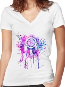Shaping Dreams  Women's Fitted V-Neck T-Shirt