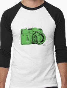 Green Russian Camera Men's Baseball ¾ T-Shirt
