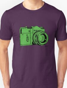 Green Russian Camera T-Shirt