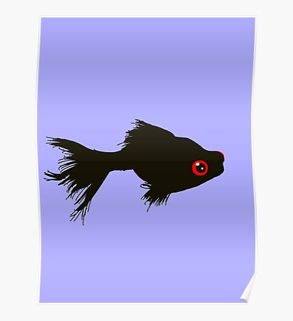 A Fluffy Fish Poster