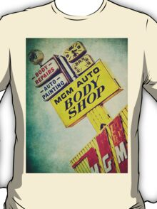 MGM Auto Body Shop Vintage Sign T-Shirt