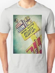 MGM Auto Body Shop Vintage Sign T-Shirt