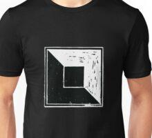 square minimal woodcut Unisex T-Shirt