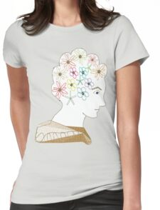 Flower Girl Profile Womens Fitted T-Shirt
