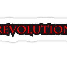 Revolution Text Sticker