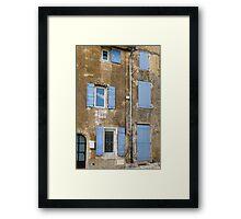 six shutters Framed Print