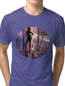 ☝ ☞ SAILING WITH A VIEW TEE SHIRT☝ ☞ Tri-blend T-Shirt