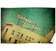 1926 Wilshire Royale Art Deco Vintage Sign  Poster
