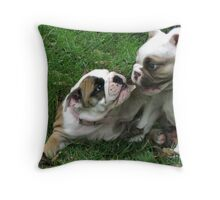 Aggy and Pickles Throw Pillow