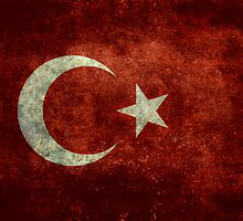 The National flag of Turkey - Vintage version by Bruiserstang