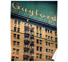 1924 Gaylord Apartments Vintage Neon Sign Poster