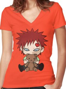 Chibi Love Boy Women's Fitted V-Neck T-Shirt