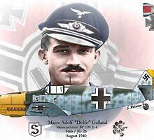 """Adolf """"Dolfo"""" Galland by A. Hermann"""