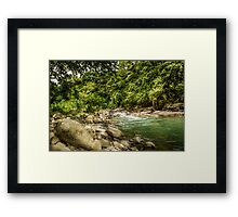 Costa Rican RIver HDR Framed Print
