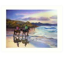 Beach Ride Byron Bay Art Print