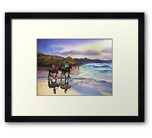Beach Ride Byron Bay Framed Print