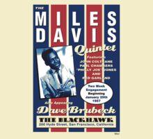 Miles Davis Quintet Concert Flyer Tee by Jarrod Knight