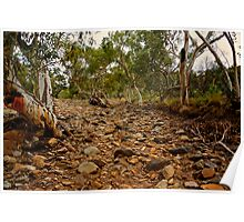 Dry Creek Bed - Eastern McDonald Ranges NT Poster