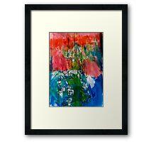 Clown on the Blue Elephant Framed Print