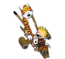 captain calvin and hobbes Photographic Print