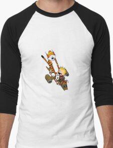 captain calvin and hobbes Men's Baseball ¾ T-Shirt