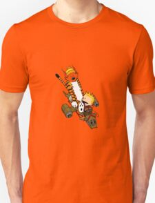 captain calvin and hobbes T-Shirt