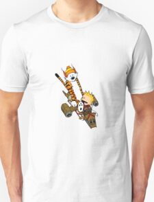 captain calvin and hobbes T-Shirt