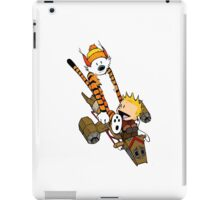 captain calvin and hobbes iPad Case/Skin
