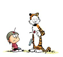 Calvin And Hobbes playing by DinaPurifoy
