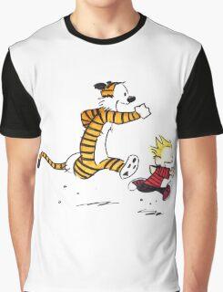 Calvin And Hobbes runner Graphic T-Shirt